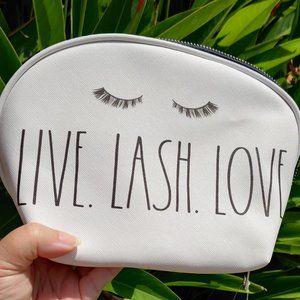 "RAE DUNN ""LIVE. LASH. LOVE."" Cosmetic Pouch"